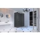 Merlyn 10 Series Sliding Shower Door 1200mm Left Hand Smoked Black Glass