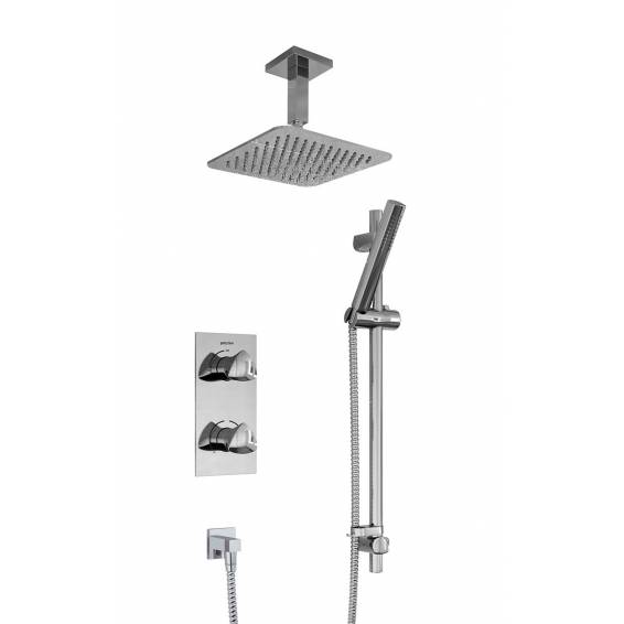 Bristan Bright Thermostatic Recessed Shower Pack with Fixed & Adjustable Heads