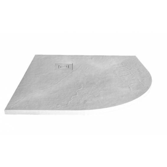 Merlyn Truestone Quadrant Shower Tray 900 x 900mm Fossil Grey