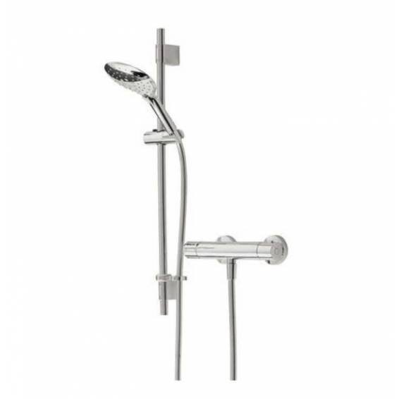 Bristan Claret Thermostatic Exposed Bar Shower with Adjustable Riser Kit