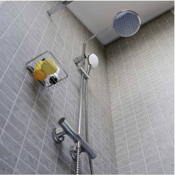 Bristan Claret Thermostatic Rigid Riser Diverter Shower with Fixed & Adjustable Heads