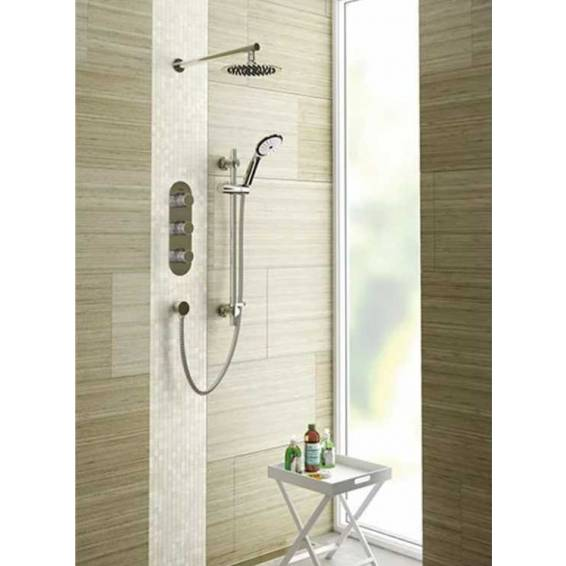 Bristan Exodus Thermostatic Recessed Shower Pack with Fixed & Adjustable Heads