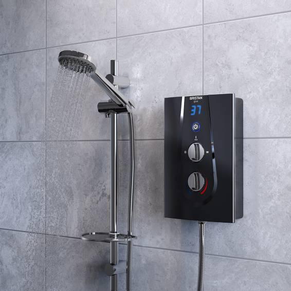 Bristan Glee 8.5kw Electric Shower Black