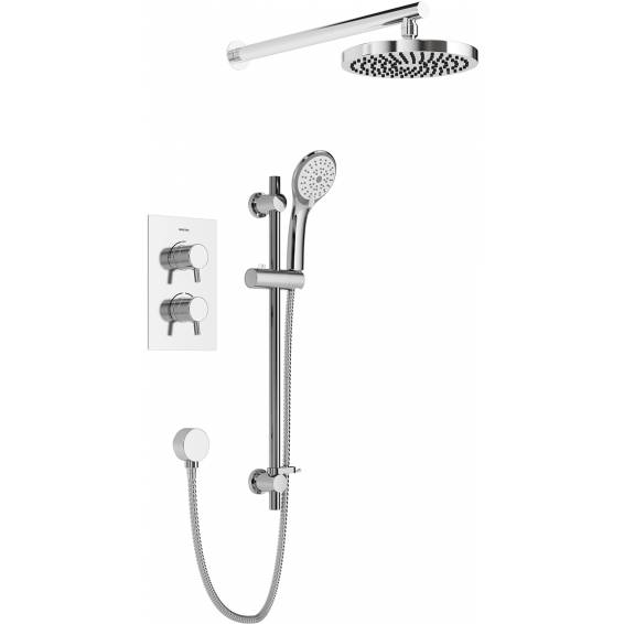 Bristan Prism Thermostatic Recessed Shower Pack with Fixed & Adjustable Heads