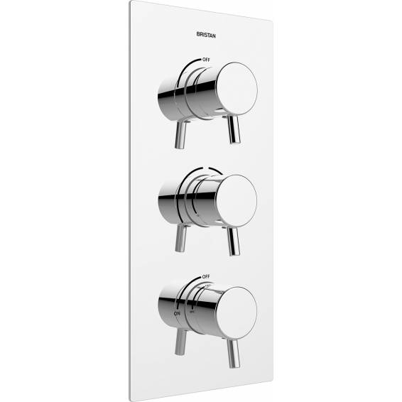 Bristan Prism Thermostatic Recessed Twin Stopcocks Shower Valve