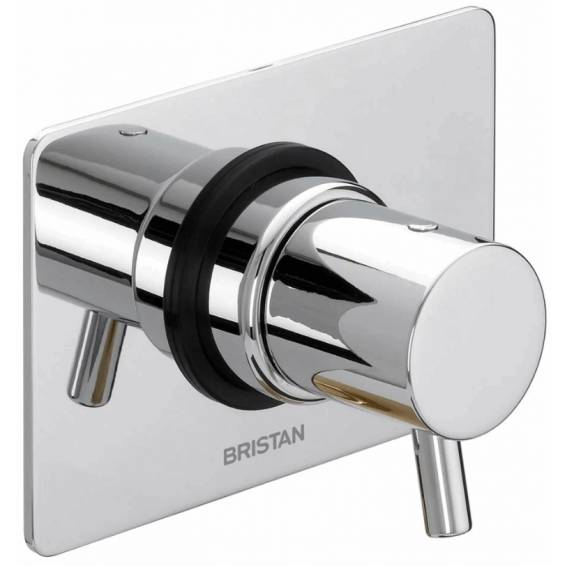 Bristan Prism Thermostatic Recessed Two Outlet Diverter & Single Stopcock Shower Valve