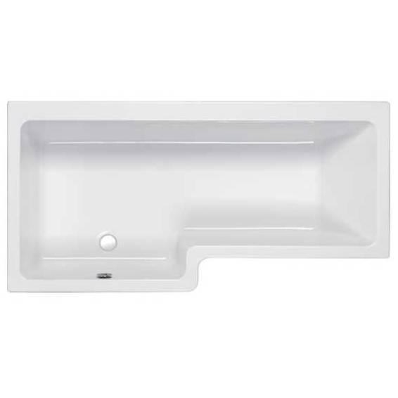 Carron Quantum Square Shower Bath 1700 x 700/850mm Left Hand