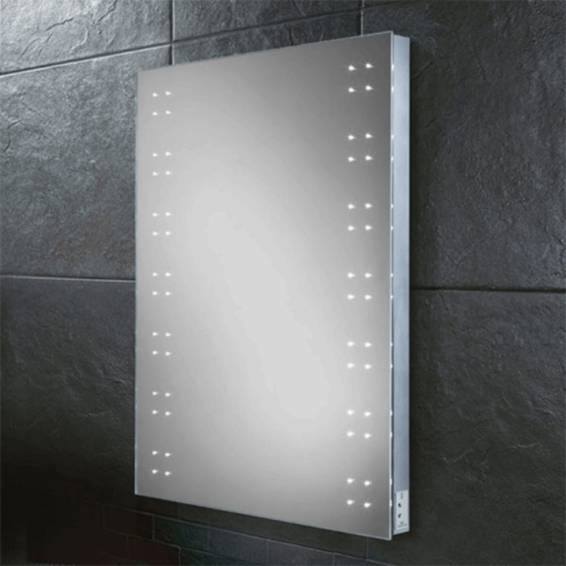 HIB Ariel Steam Free LED Mirror with Charging Socket 800 x 600mm