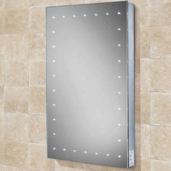 HIB Astral Steam Free LED Mirror with Charging Socket 700 x 500mm