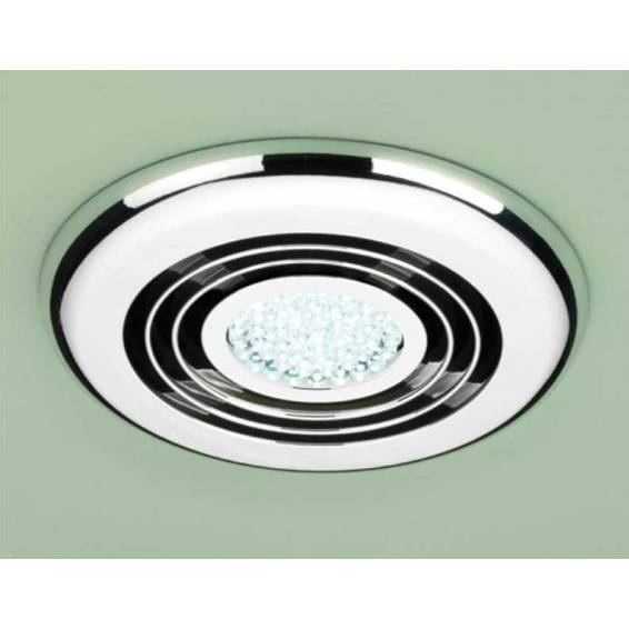 HIB Cyclone Inline Illuminated Chrome Fan Cool White LED