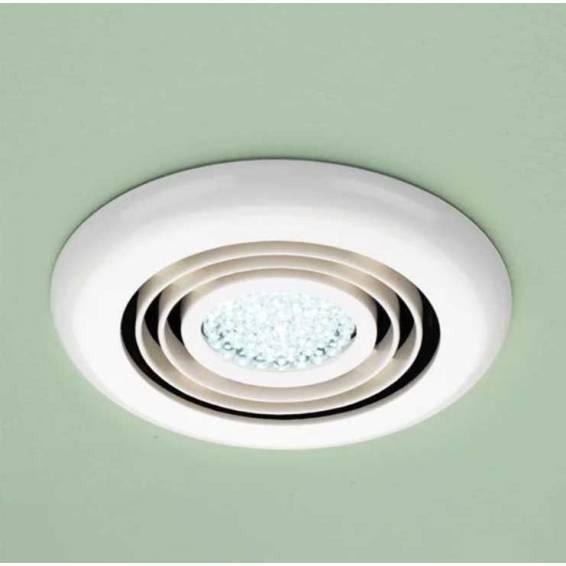 HIB Cyclone Inline Illuminated White Fan Cool White LED
