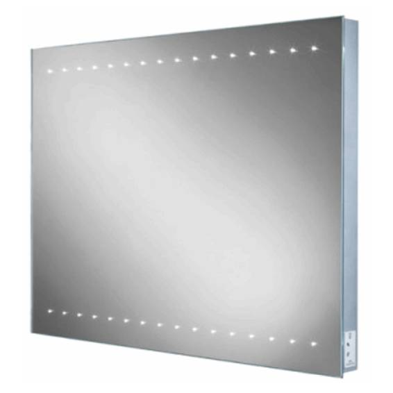 HIB Epic Steam Free LED Mirror with Charging Socket 600 x 800mm