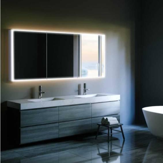 HIB Qubic 120 LED Aluminium Bathroom Cabinet 1200 x 700mm