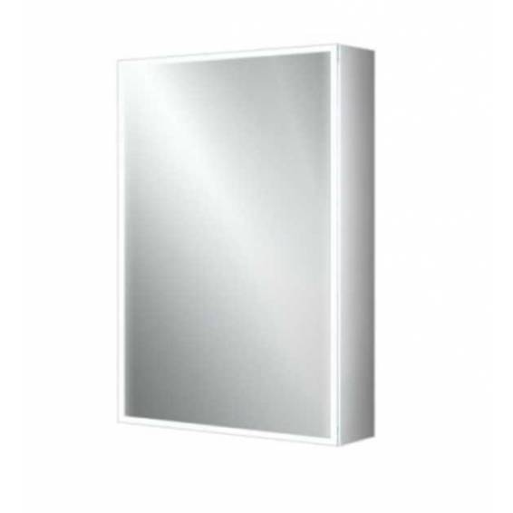 HIB Qubic 50 LED Aluminium Bathroom Cabinet 500 x 700mm