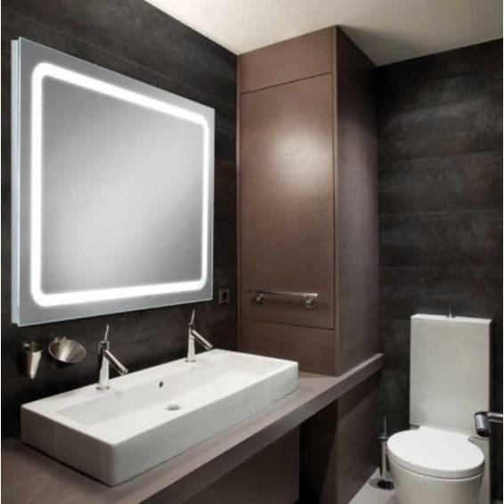 HIB Scarlet LED Illuminated Mirror 800 x 600mm