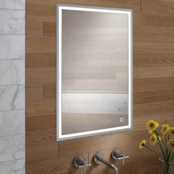 HIB Vanquish 50 LED Demisting Recessed Aluminium Bathroom Cabinet 530 x 730mm