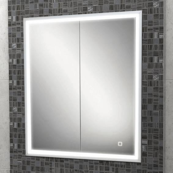 HIB Vanquish 60 LED Demisting Recessed Aluminium Bathroom Cabinet 630 x 730mm