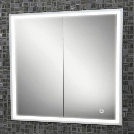 HIB Vanquish 80 LED Demisting Recessed Aluminium Bathroom Cabinet 830 x 730mm