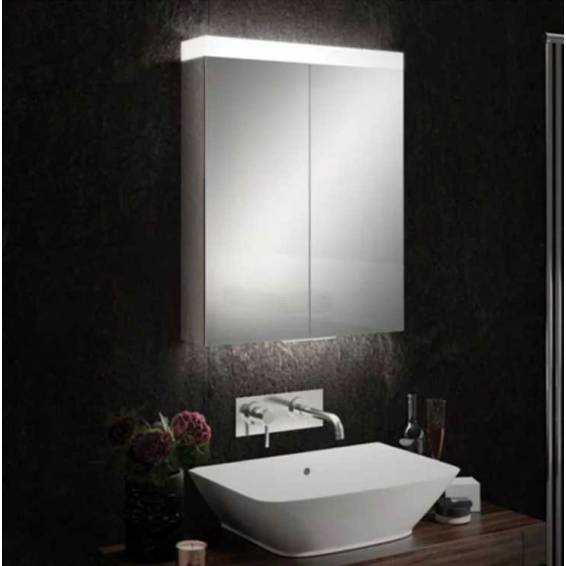 HiB Apex 60 LED Aluminium Bathroom Cabinet with Mirrored Sides 600 x 750mm