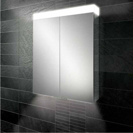HiB Apex 100 LED Aluminium Bathroom Cabinet with Mirrored Sides 1000 x 750mm