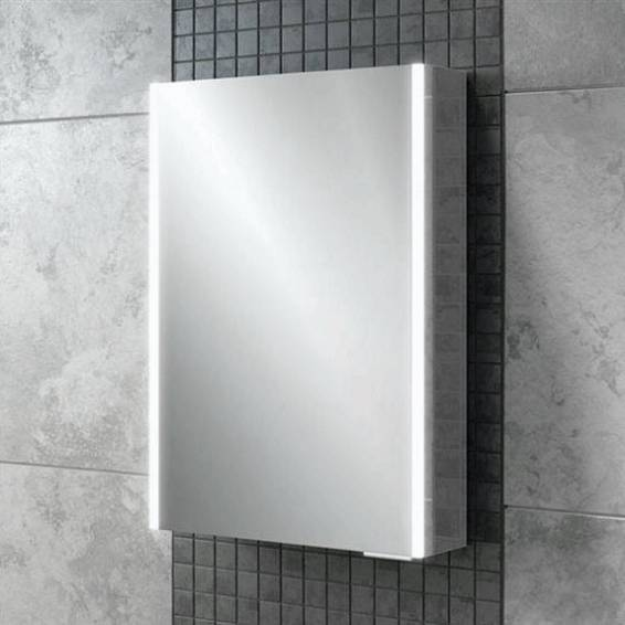 HiB Xenon 50 LED Aluminium Bathroom Cabinet with Mirrored Sides 505 x 700mm