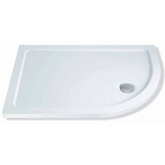 MX Elements Offset Quadrant Right Hand Shower Tray with Waste 1300 x 800mm