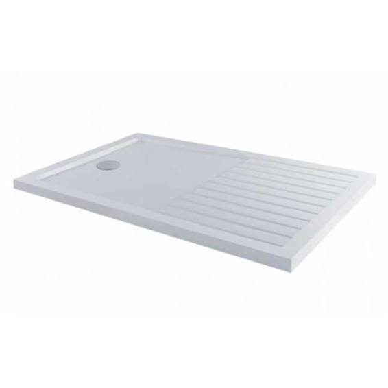 MX Elements Rectangular Shower Tray with Waste & Walk in Drying Area 1400 x 900mm