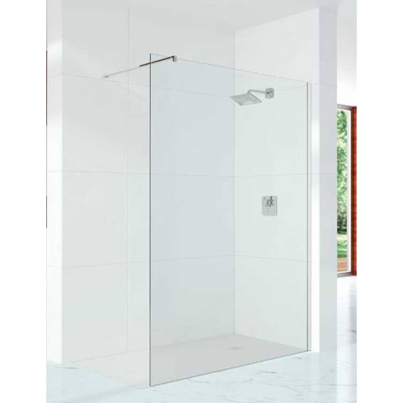 Merlyn 10 Series 10mm Glass Wetroom Panel with Wall profile & Stabilising Bar 700mm