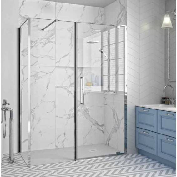 Merlyn 10 Series Pivot Shower Door & Inline Panel 1400mm