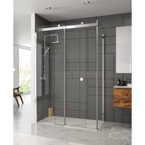 Merlyn 10 Series Sliding Shower Door with Tray 1000mm Right Hand