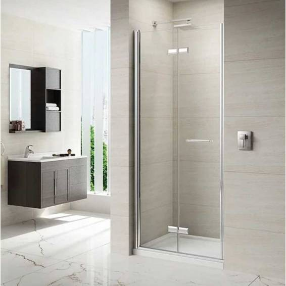 Merlyn 8 Series Frameless Hinged Bifold Shower Door 900mm