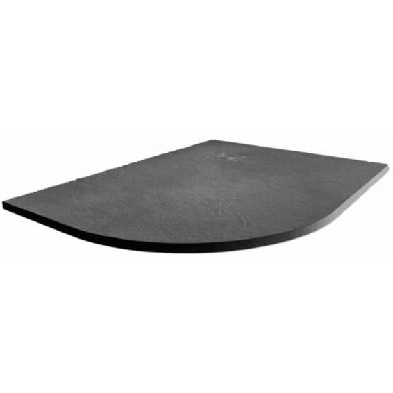 Merlyn Truestone Offset Quadrant Shower Tray 1200 x 900mm Left Hand Slate Black