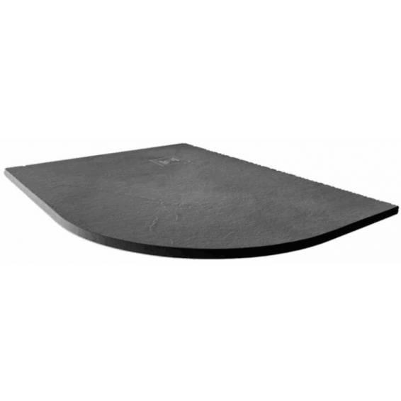 Merlyn Truestone Offset Quadrant Shower Tray 1200 x 900mm Right Hand Slate Black