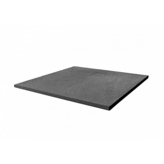Merlyn Truestone Square Shower Tray 900 x 900mm Slate Black