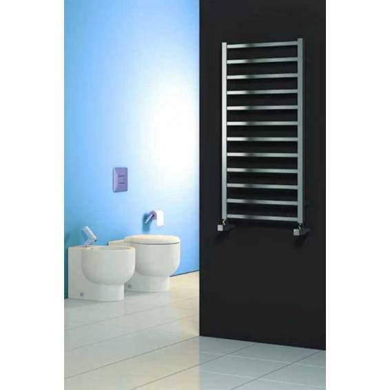 Reina Arden Brushed Stainless Steel Heated Towel Rail 500 x 500mm