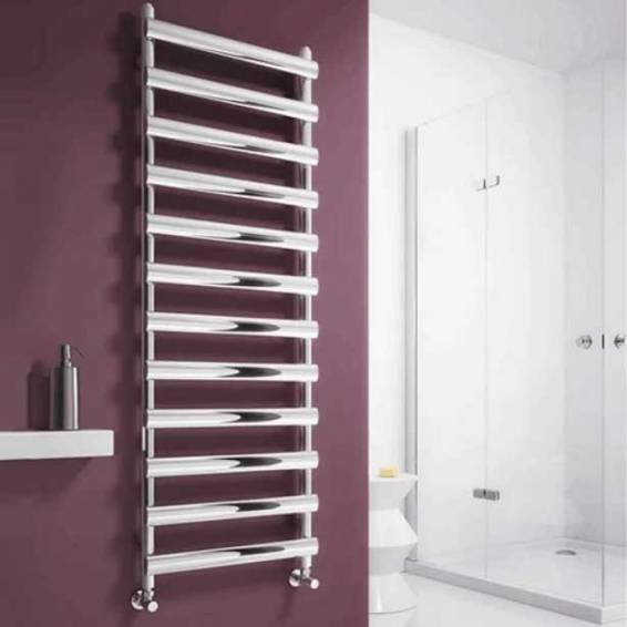 Reina Deno Stainless Steel Heated Towel Rail 496 x 500mm