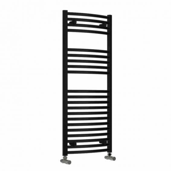 Reina Diva Thermostatic Electric Flat Heated Towel Rail 1200 x 500mm Black