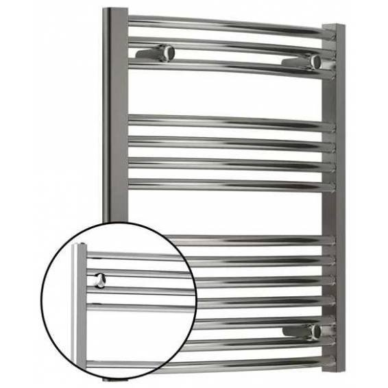 Reina Diva Curved Heated Towel Rail 800 x 400mm Chrome