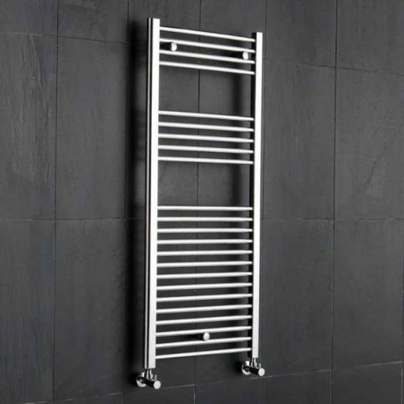 Reina Diva Thermostatic Electric Flat Heated Towel Rail 800 x 500mm Chrome