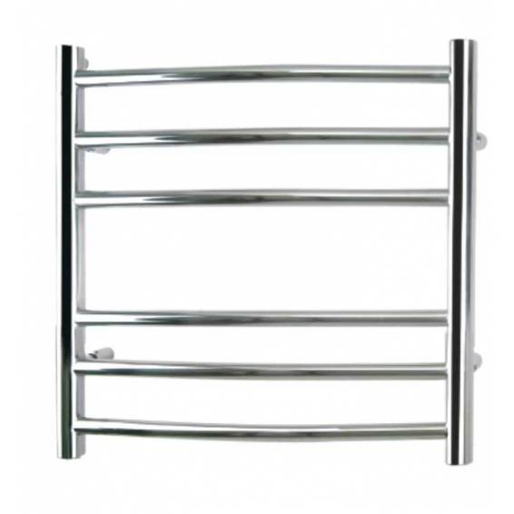 Reina Eos Curved Stainless Steel Heated Towel Rail 1200 x 500mm