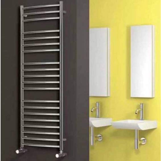 Reina Eos Curved Stainless Steel Heated Towel Rail 430 x 600mm