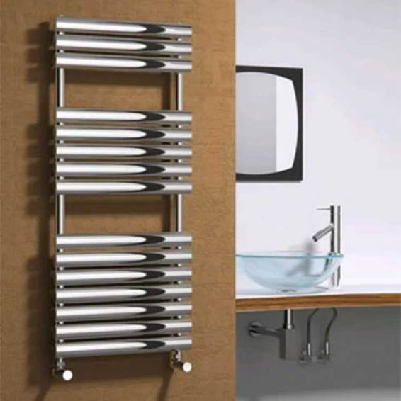 Reina Helin Stainless Steel Heated Towel Rail 826 x 500mm