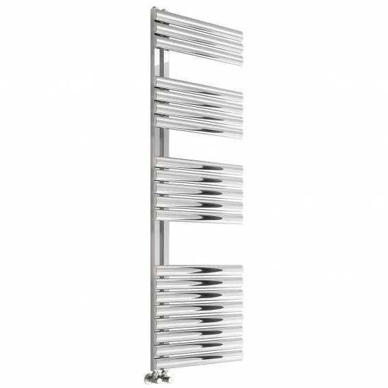 Reina Scalo Brushed Stainless Steel Heated Towel Rail 826 x 500mm