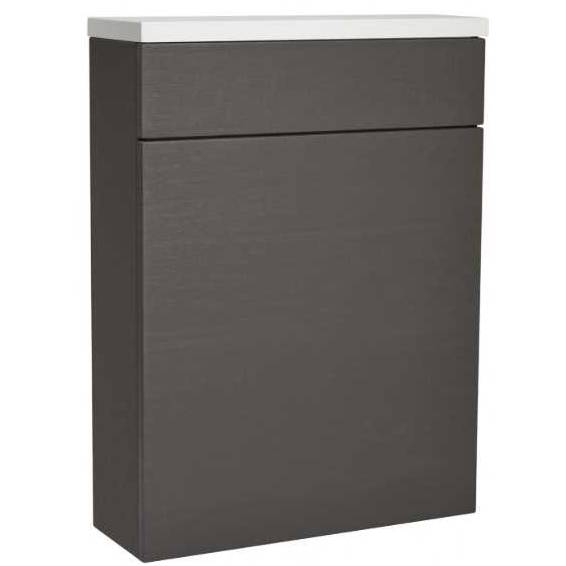 Roper Rhodes 570 Back To Wall WC Unit with Worktop Charcoal Elm