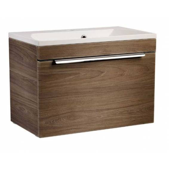 Roper Rhodes Cypher 600mm Wall Mounted Unit with Basin Dark Elm
