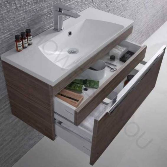 Roper Rhodes Cypher 800mm Wall Mounted Unit with Basin Dark Elm