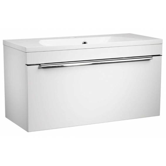 Roper Rhodes Cypher 800mm Wall Mounted Unit with Basin Gloss White