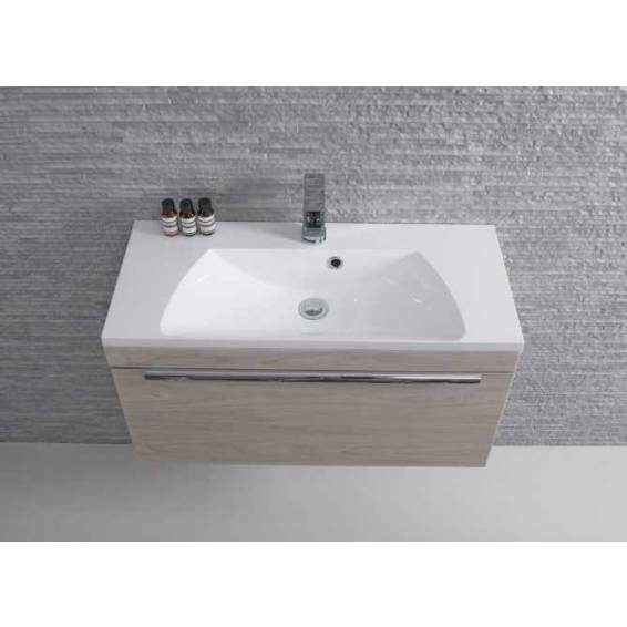Roper Rhodes Cypher 800mm Wall Mounted Unit with Basin Light Elm