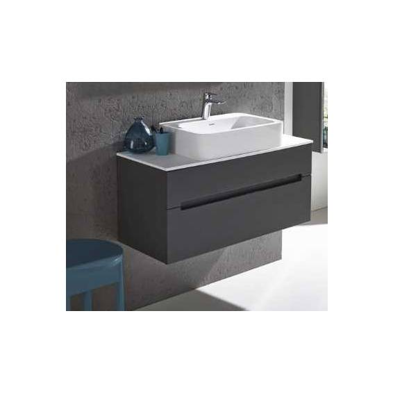 Roper Rhodes Diverge 1000mm Wall Mounted Unit with Ceramic Basin Charcoal Elm