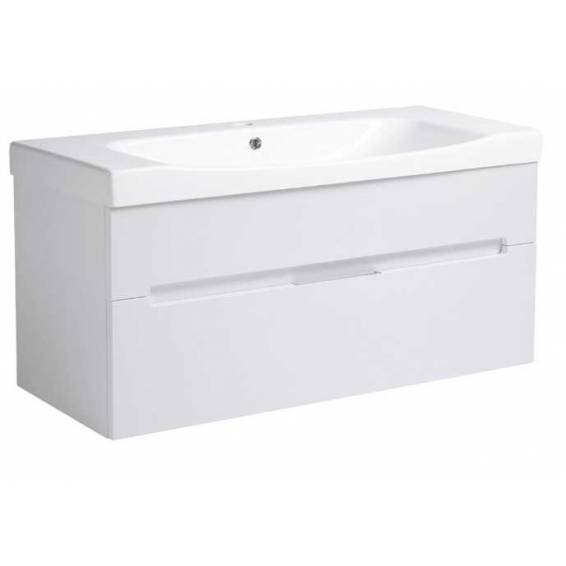 Roper Rhodes Diverge 1000mm Wall Mounted Unit with Ceramic Basin Gloss White
